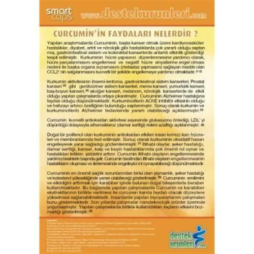 Smartcaps İnflex C3 2000 X Curcumin 60 Bitkisel Kapsül