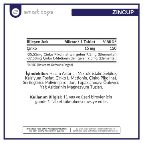 SMARTCAPS Zincup 15 mg 60 Tablet