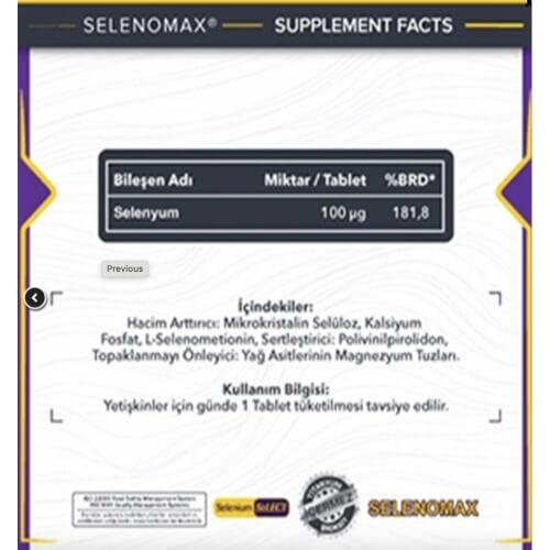 Smartcaps Selenomax 100 µg 100 Tablet