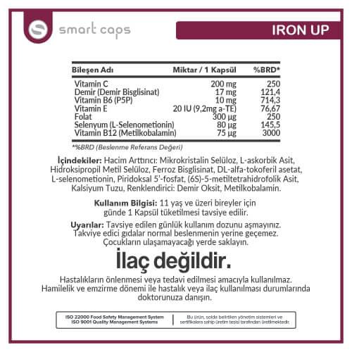 Iron up 60 adet Bitkisel Kapsül