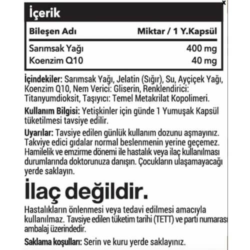 Koenzim Q10 + Sarımsak / 60 Softgel